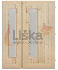Palubkové dveře dvoukřídlé Sklo dlouhé DUO
